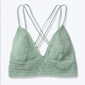 Victoria's Secret Smocked Triangle Bralette